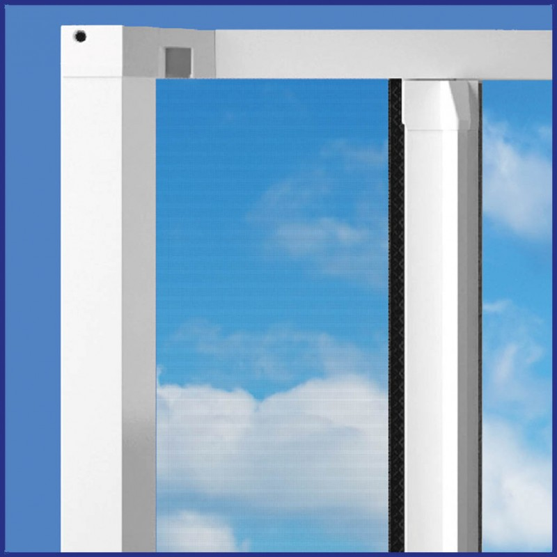 Domestic roller door screen side mounted pull across made for Roller fly screens for doors