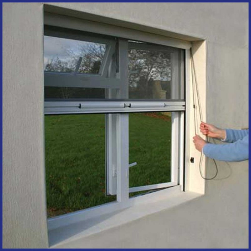Roller Window Wind Resistent Top Mounted Mtm White