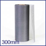 Fibreglass / PVC Insect Mesh - 300mm x 50m Roll - Grey