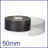 Fibreglass / PVC Insect Mesh - 50mm x 45m Roll - Black