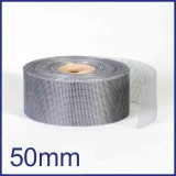 Fibreglass / PVC Insect Mesh - 50mm x 45m Roll - Grey