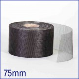 Fibreglass / PVC Insect Mesh - 75mm x 45m Roll - Black