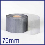 Fibreglass / PVC Insect Mesh - 75mm x 45m Roll - Grey