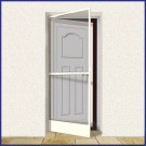 Aluminium Hinged Door Screen - Domestic