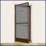 Hinged Door Screen - Domestic - MTM - Brown