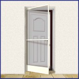Hinged Door Screen - Domestic - MTM - White