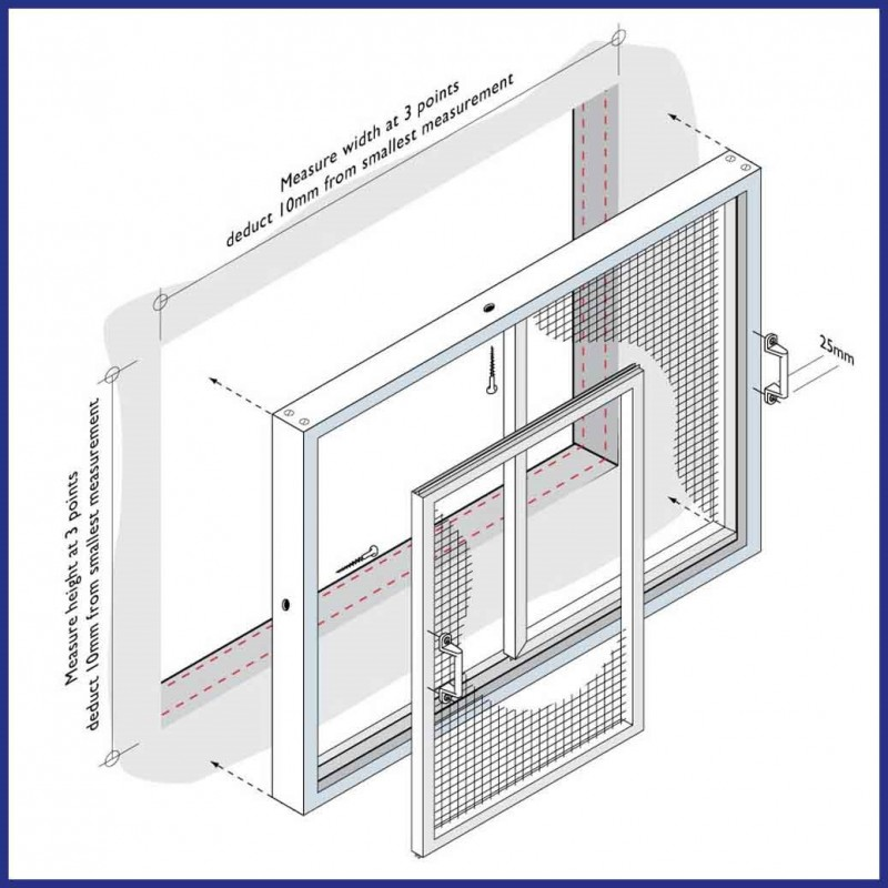 Commercial aluminium sliding window and door fly screens for Sliding fly screen door parts
