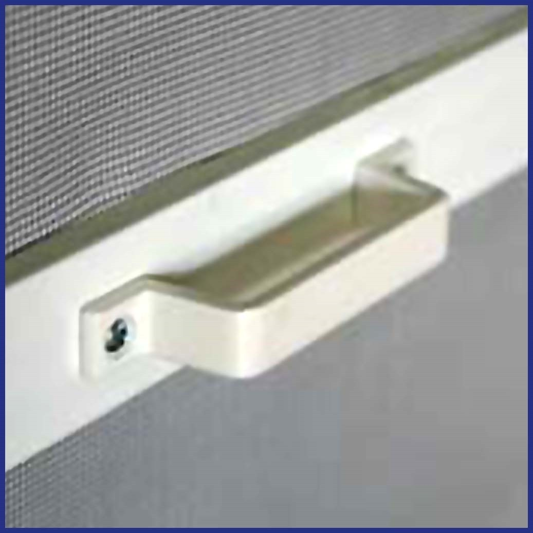Aluminium Hinged Door Screen - Handle Detail