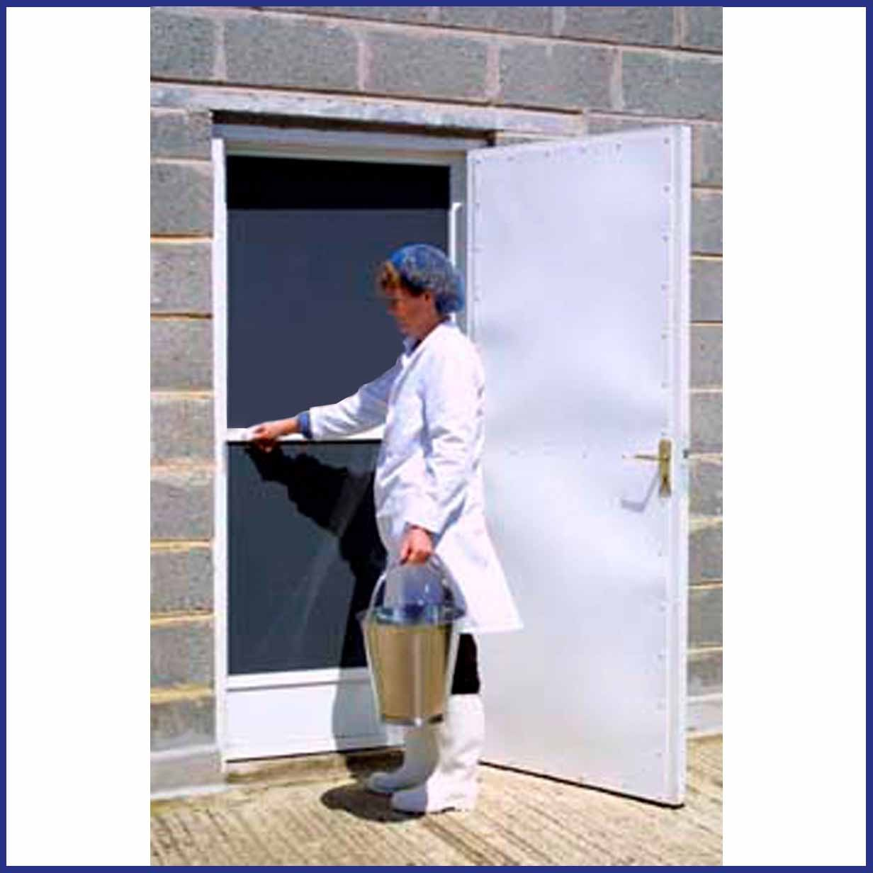 Aluminium Hinged Door Screen - Commercial DIY Kit