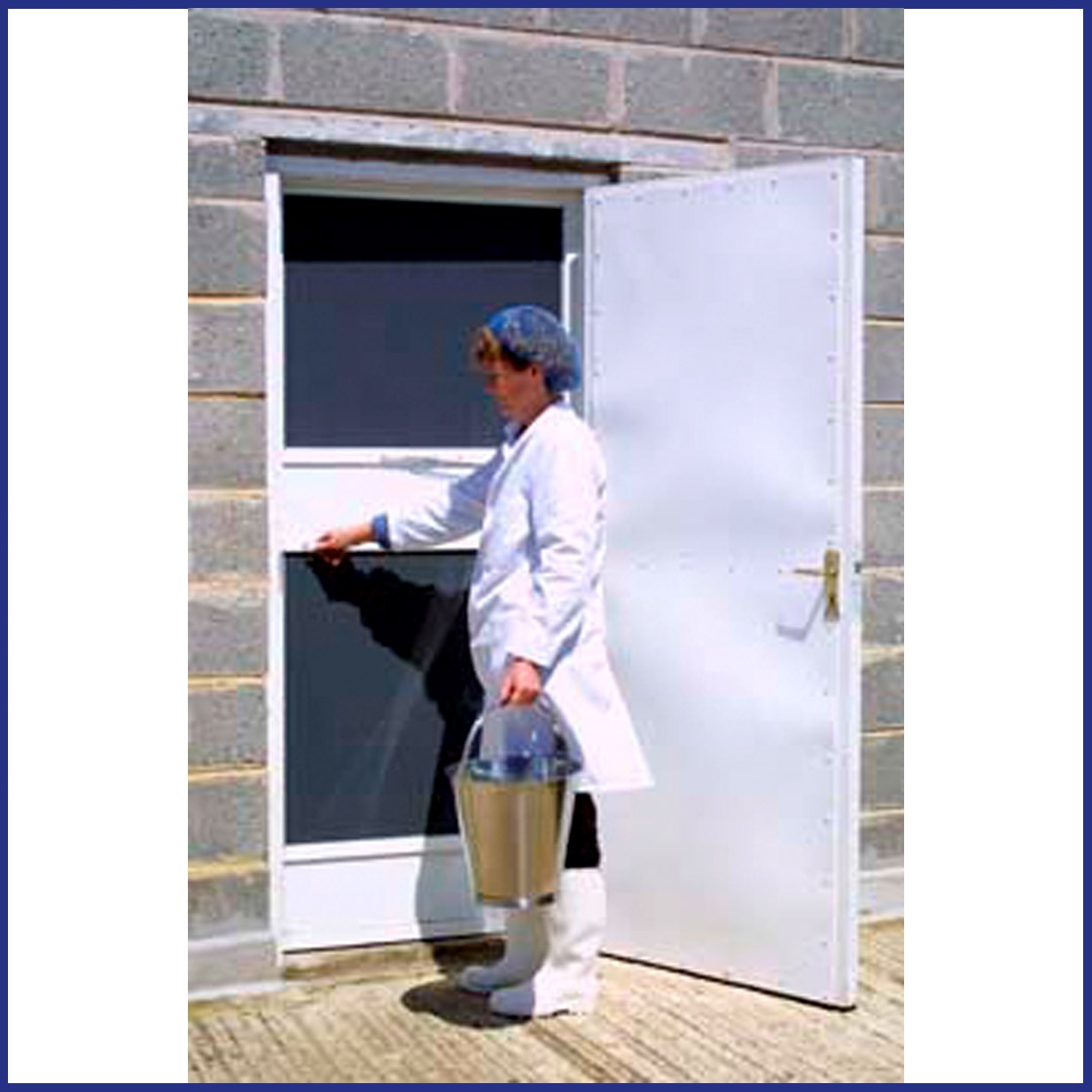 Aluminium Hinged Door Screen with Push Plate