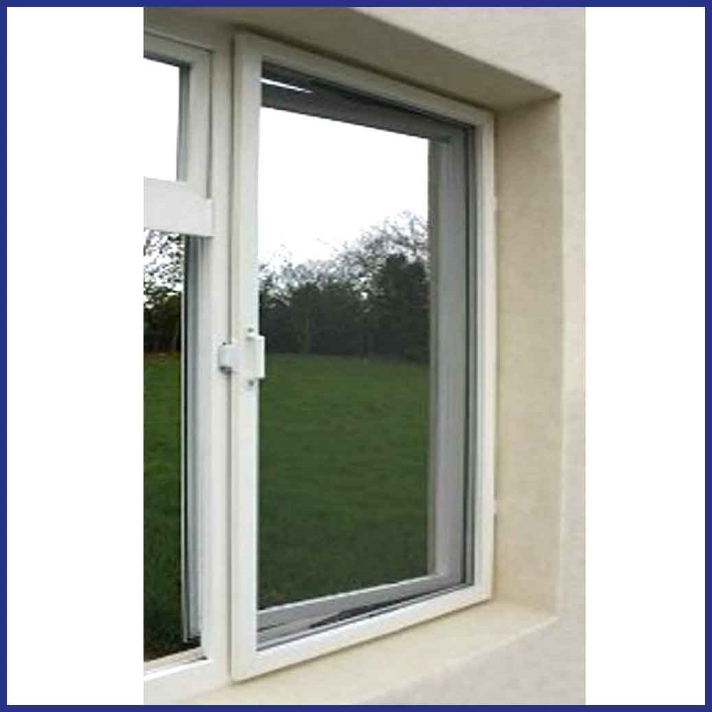 Aluminium Hinged Window Screen - In Position