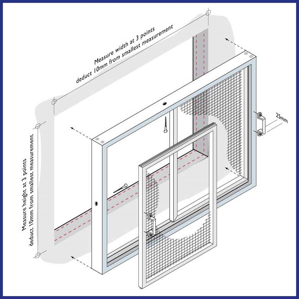 Aluminium Sliding Window - Diagram