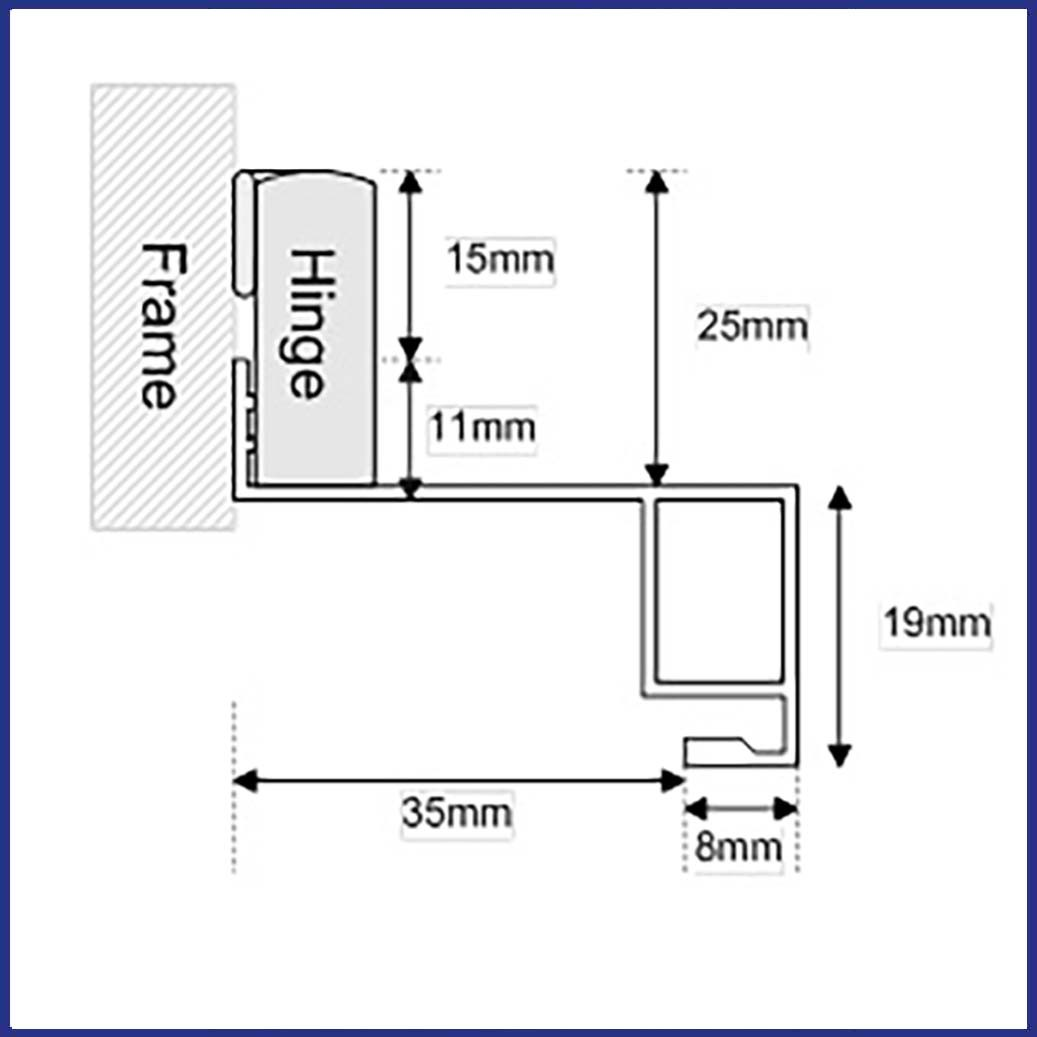 Aluminium Window Screen - Stand Off - Diagram