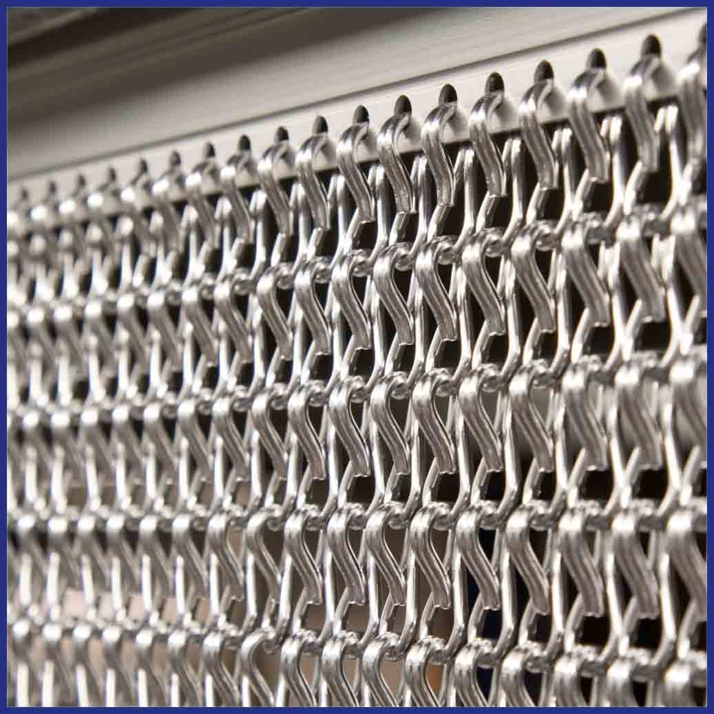 Commercial diy or made to measure chain fly screens