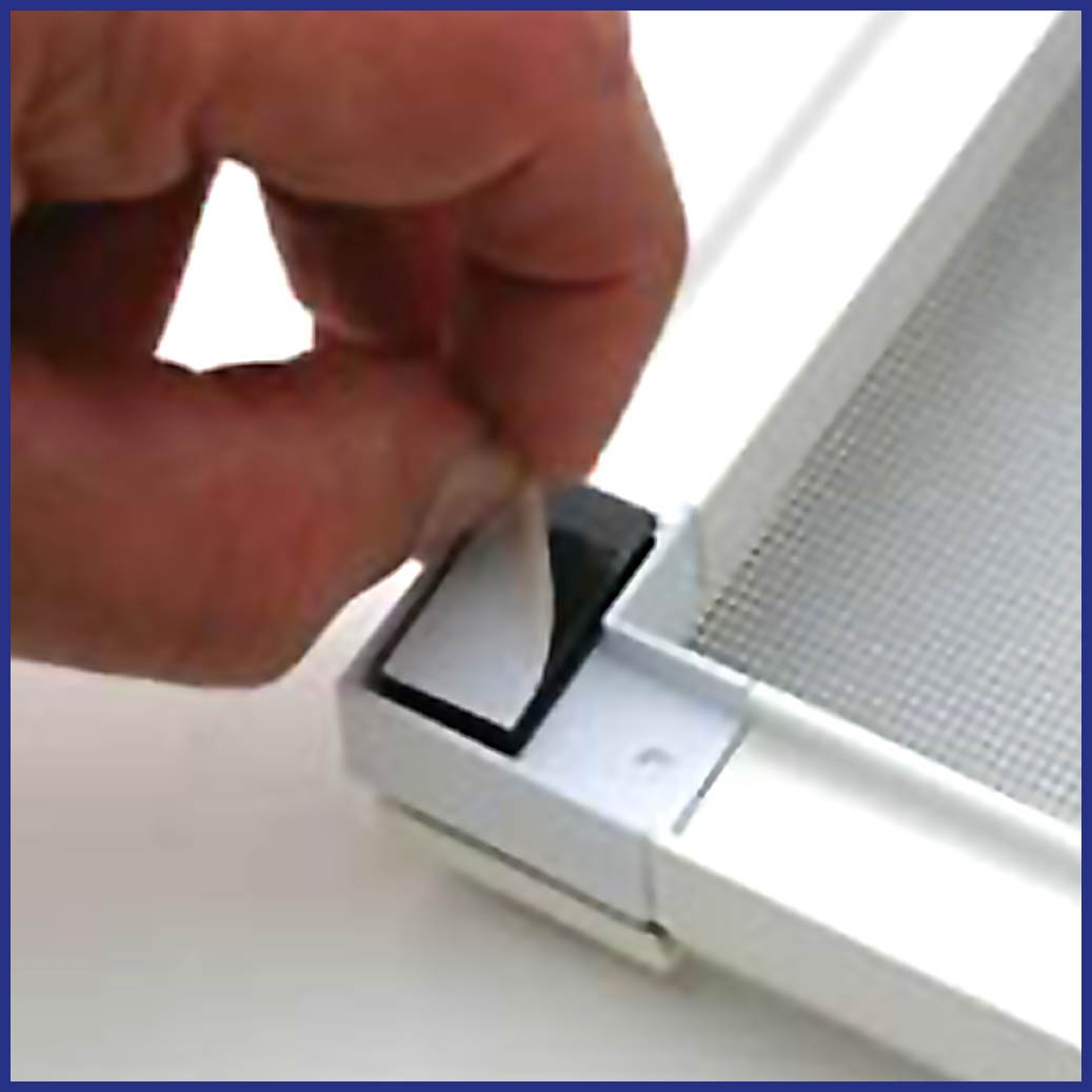 Magnetic Insect Screen for Windows - Duel Lock Fastener