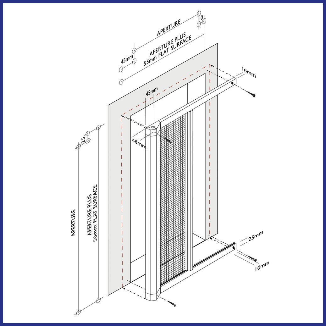 Roller Door Screen - Diagram
