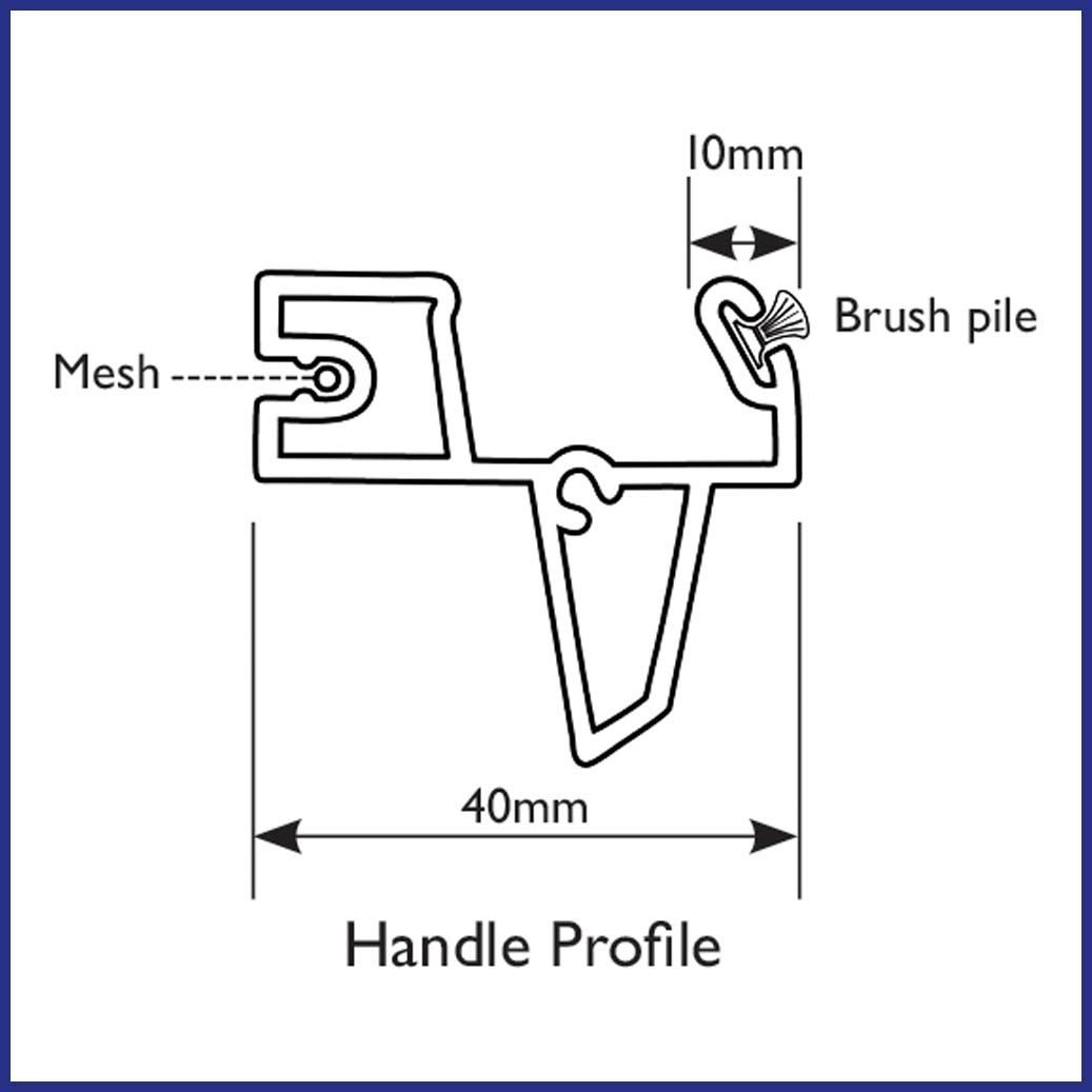Roller Door Screen - Handle Profile