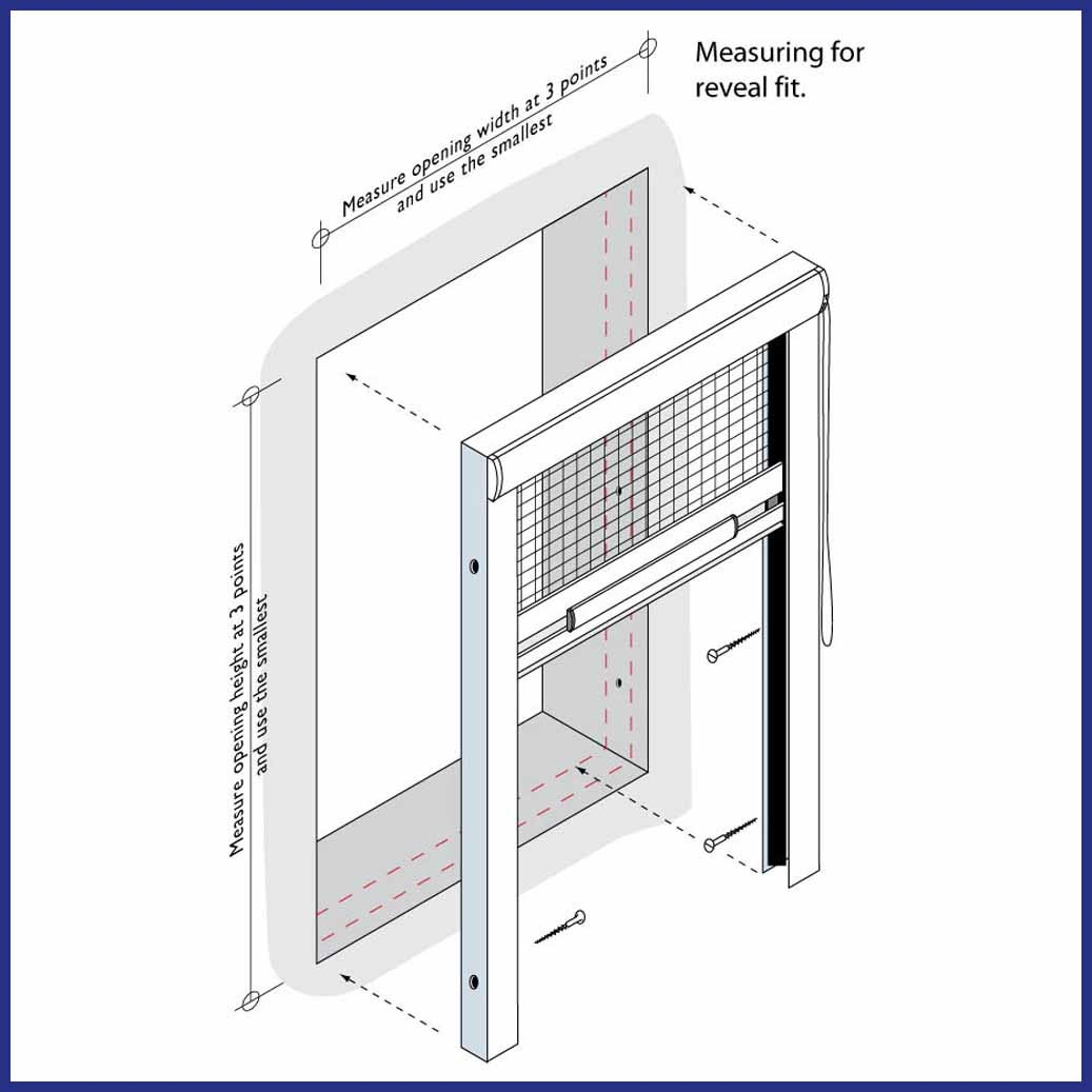 Roller Window/Door - Wind Resistant - Diagram